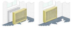 экраны для радиаторов отопления с коробом ХДФ