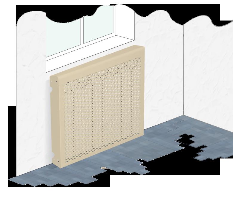 металлические экраны эконом на радиаторы отопления